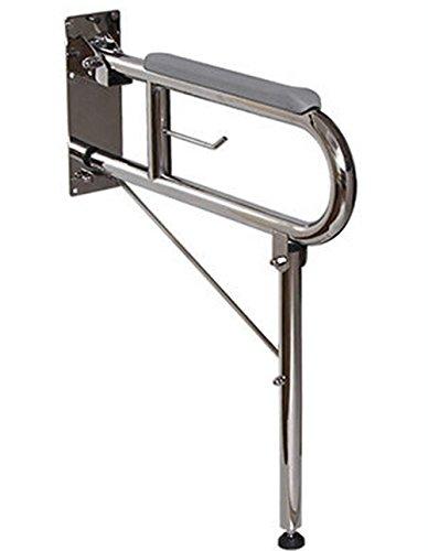 CU -Ispessimento privo di barriere architettoniche corrimano per disabili per anziani pieghe WC bagno corrimano in nylon-bagno antiscivolo resistente alla corrosione corrimani A