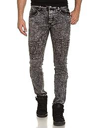 Gov Denim - Jeans gris foncé homme délavé slim
