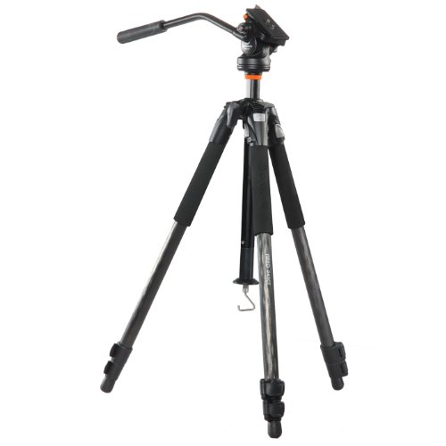 Vanguard treppiede Abeo 243 CV 3-Stage medie video camera piattaforma carbonio (Japan Import)