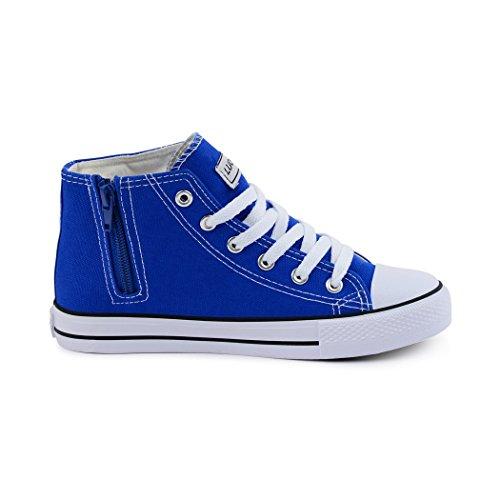 Sportlich Alto Crianças Reißverschluss Zíper botas Sneaker atleta boots chinelo Semi top Kids High Lace Best Blue Damen Best Halbschuhe M Azul M top Tênis Sapatos Slipper Schnürer Senhoras CZ8xF