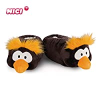 Nici 44132 Slipper Penguin Frizzy, figurine shaped. Toy, Black