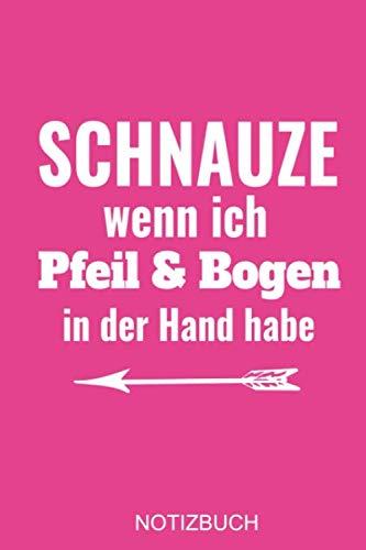 Der Kostüm Pfeil - Schnauze wenn ich Pfeil und Bogen in der Hand habe: a5 Notizbuch (pink) gepunket, dotted, punktkariert, dot grid, 120 Seiten