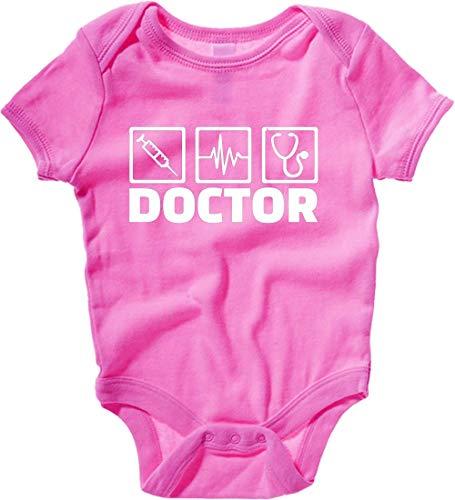 4d3548e122640 T-Shirtshock Body Neonato Rosa Raspberry DEC0062 Doctor