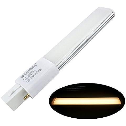 Bonlux 6W G23 2-Pin LED compacto de la lámpara blanco cálido 3000K 180 grados en horizontal empotrada LED G23 Base de reequipamiento PL Bombilla 13W CFL reemplazo (Eliminar / de derivación del lastre)