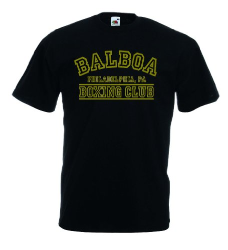 Italia / Italien Herren T-Shirt Trikot Balboa Boxing Club|schwarz L