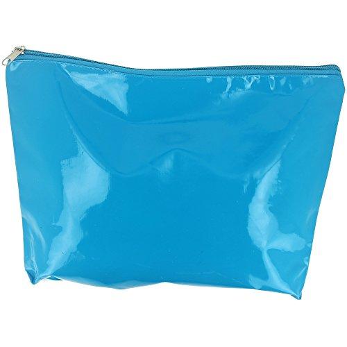 Promobo -Maxi Trousse De Toilettes Maquillage Imprimé People PVC Bleu