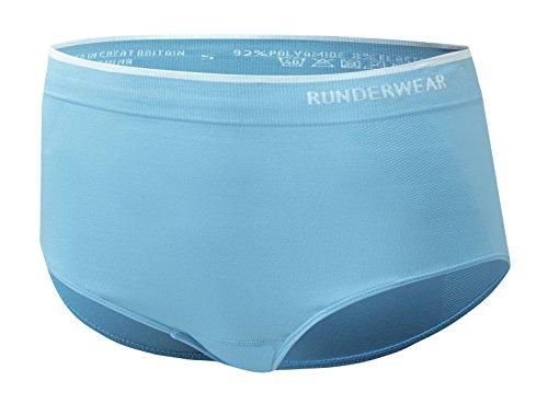 Runderwear weiblichen Brief-Unterwäsche Seamless Laufen und Sport (schnelltrocknend und Dressurgurt), Farbe XL blau