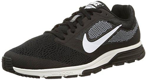 Nike Herren, Laufschuhe, air zoom fly 2, schwarz (black/white-cool blue), 43