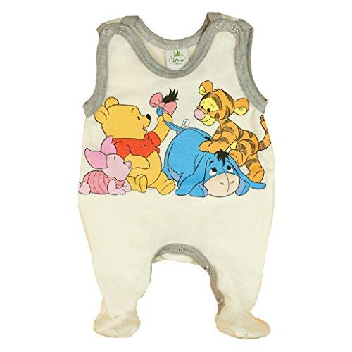 üßchen Jungen oder Mädchen, ÄRMELLOS, Spiel-Anzug mit Druck-Knöpfen, Baby-Schlafanzug Winnie Pooh, Grösse 56, 62, 68, für Neugeborene in rosa, blau, weiß Size 62, Farbe Weiss ()