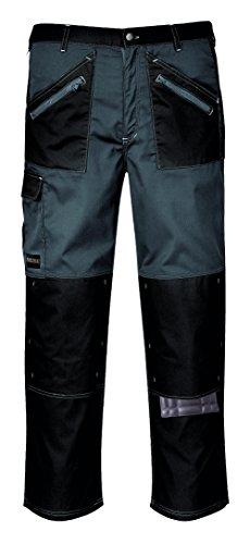 Chrome Cargo Arbeit Hose Pants Knie Pad Taschen Construction Arbeitsbekleidung KS12[33''-34''] [Reg 31''] [Schwarz/Zoom Grau]
