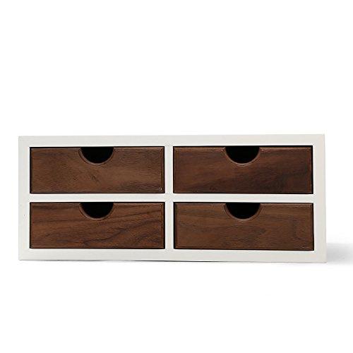 Organizer-Halter-Speicher-Fach-dekorative hölzerne Fächer mit Entwurf des japanischen Art (Capacity : 3 drawer, Color : Light - Küche Wagen Holz