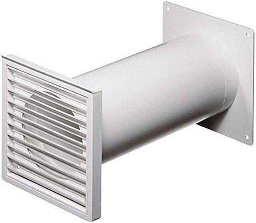 WALLAIR Système de Ventilation pour conduites Rondes 100 N37824 (Ø x L) 10 cm x 48 cm Plastique Blanc