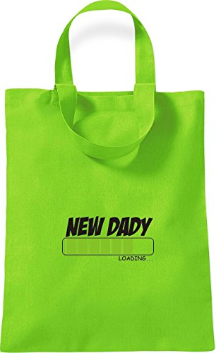 Shirtinstyle Small Cotton Bag New Dady Caricamento Colore Rosso Lime