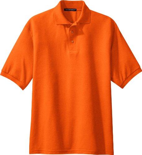 NEW Port Behörde Silk-Touch Sport T-Shirt Harvest Gold, M Arancione