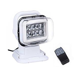 LED Luces de Búsqueda, Luz de Trabajo de 12v 50W Rotación de Focos de Repuesto Lámpara de Noche de Control Remoto Todoterreno con Imanes en la Base con un Control Remoto