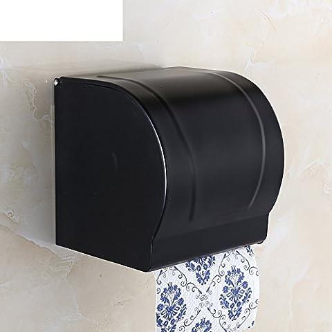 negro sostenedor de papel higiénico/Cajas de pañuelos de baño vintage americano/Papel higiénico europeo bandeja/ aseo cuarto de baño accesorios Portarrollos-C