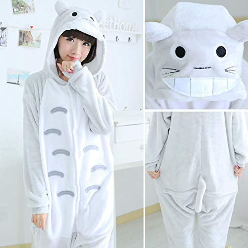 handaxian pigiama donna adulto animale tutine pigiama invernale pigiama set pigiama in flanella totoro m