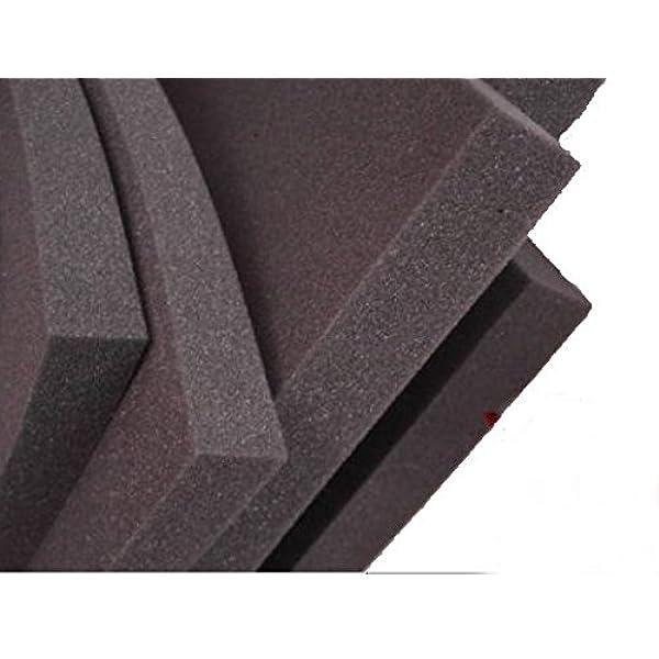 Glatt Schaumstoff Selbstklebend D/ämmung Schallschutz mail 100cm x 50cm x h Schwarz 100x50x4, Anth//Schwarz Wei/ß o