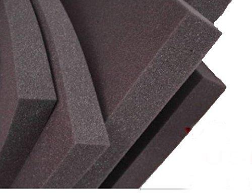 lulushop Glatt-Schaumstoff-Daemmung-Schallschutz-Fester-Rolllaeden-platten Dämmung Schaumstoff Noppenschaum100x50-cm Weiß und Schwarz (100x50x 5cm, Schwarz)