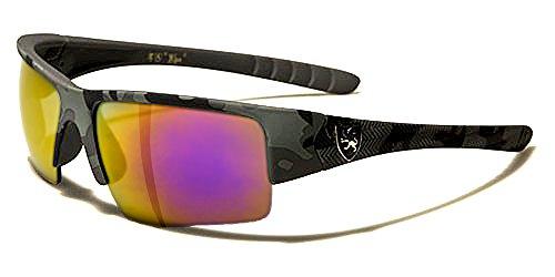 Khan Sonnenbrillen Sport - Radfahren - Skifahren - Running - Moto - Militär / Power Camo Schwarz