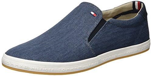 Tommy Hilfiger Herren H2285OWELL 2D2 Low-Top, Blau (Jeans 013), 42 EU