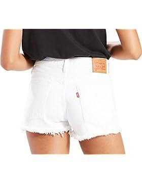 Levi's Donna - Shorts in jeans bianco con orlo sfrangiato
