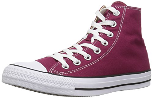 Converse Womens All Star Hi M9613c Maroon Canvas Trainers 4 Uk