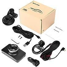"Leoie Dash Cam Dual Lens Car DVR Vehicle Camera Full HD 1080P 3"" IPS Front+Rear Night Vision Video Recorder G-Sensor Parking Monitor"