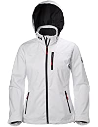 Helly Hansen W Crew Hooded Midlayer Jacket – Chaqueta de puente Mujer, Mujer, color blanco, tamaño FR : M (Taille Fabricant : M)