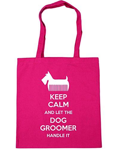 HippoWarehouse Keep Calm And Let The Dog Groomer Handle It Tote Shopping Gym Beach Bag 42cm x38cm, 10 litres