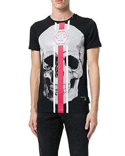 Philipp plein - maglietta da uomo shake -s - nero, xxl