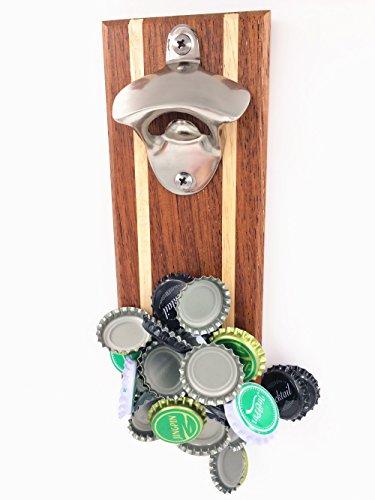 FREE WOLF Wohnkultur Magnet Wand Flaschenöffner Bier-Flaschen-Öffner mit Magnet-Fang Holz Magnetfalle Kühlschrankmagnet Bottle Opener (Magnet Bier-flaschenöffner)