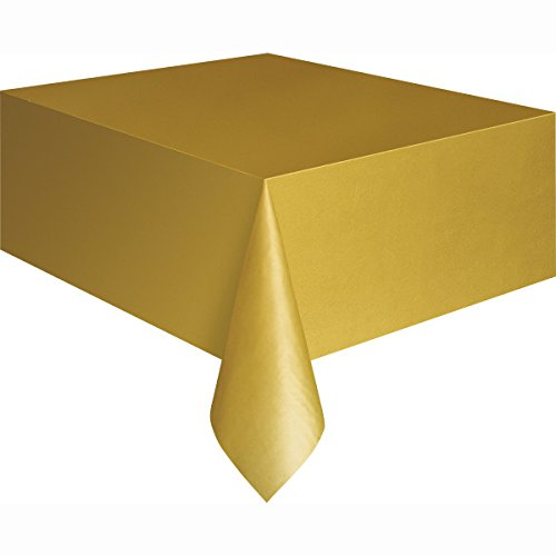Unique Party Supplies / Plastiktischdecke, gold