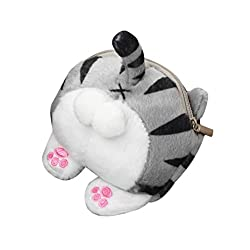 UFACE Katze Esel Ei Geldbörse Cute Cat Butt Tail Plüsch Geldbörse Geldbörse Tasche (Violett)