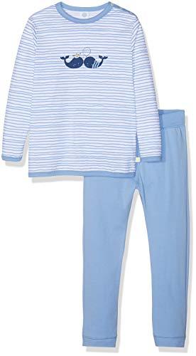 Sanetta Baby-Jungen Pyjama Long Bekleidungsset, Blau (Blue Sea 5673), 86
