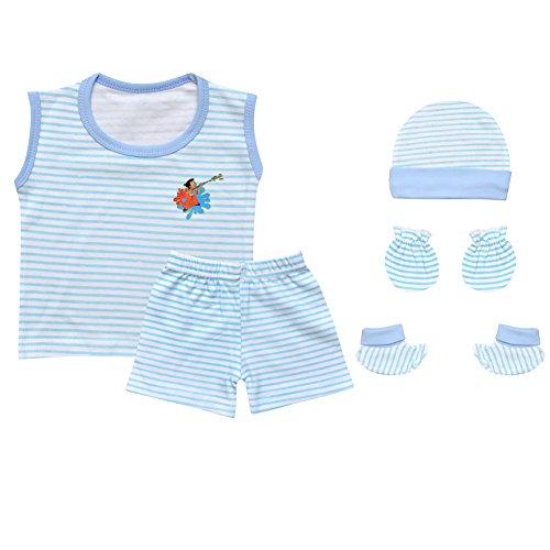 Luke and Lilly Chhota Bheem New Born Baby Boy Cotton top & Bottom,cap,mitten,booties