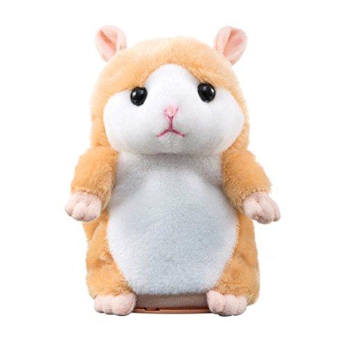 jouets pour enfants, SHOBDW 64 Go de mémoire Interessant Speak Talking Record Hamster Mouse Peluche Jouets pour enfants (Jaune)