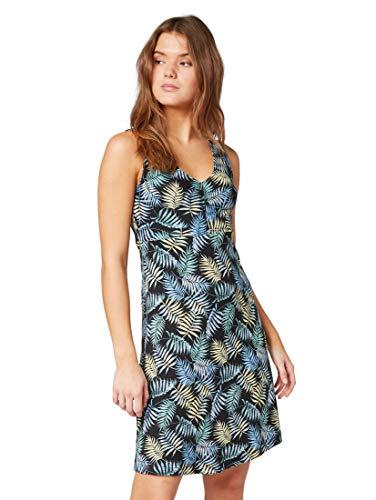 TOM TAILOR für Frauen Kleider & Jumpsuits Gemustertes Kleid Black Tropical Design, 38