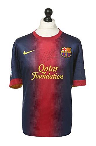 David-Villa-Signed-Barcelona-Shirt-Autograph-Barca-Jersey-Memorabilia-COA