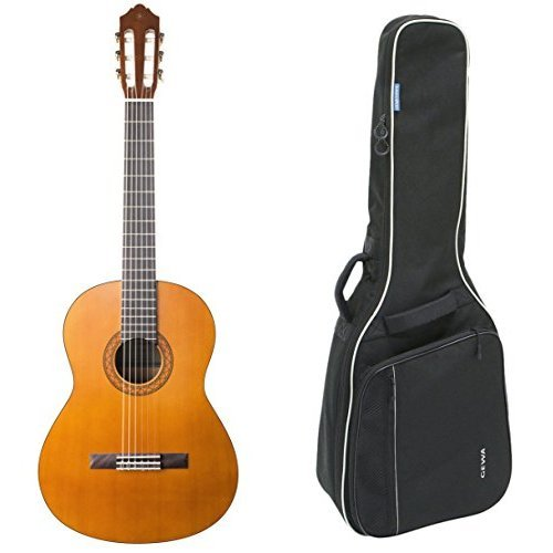Yamaha C40II Konzertgitarre, Farbe: Natur mit Gewa 212100 4/4 Klassikgitarren Gig Bag, schwarz, Bundle