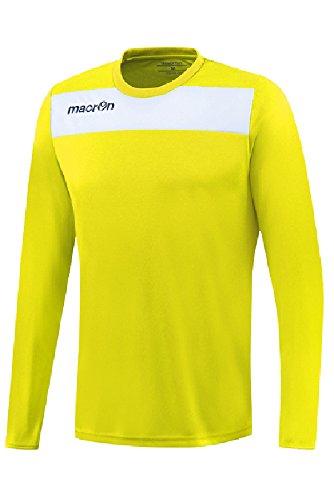 T-Shirt Sportiva Bicolore Manica Lunga da Calcio Calcetto Macron Andromeda Shirt Giallo Fluo