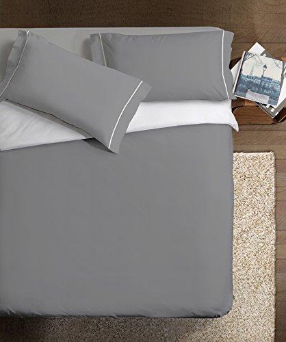 Ipersan Parure Copripiumino Double-Color grigio/bianco singolo