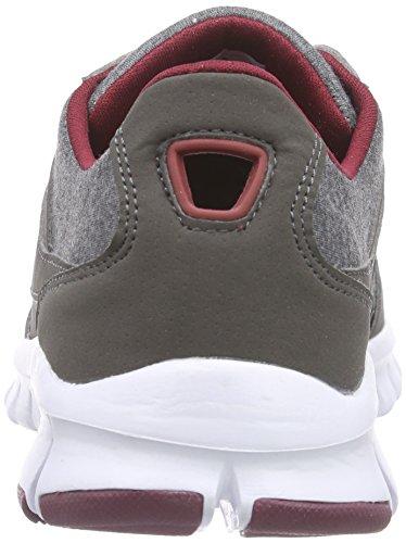 Kappa BILBAO II JERSEY unisex Unisex-Erwachsene Sneakers Grau (1325 anthra/darkred)