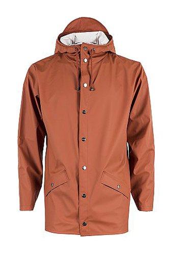 RAINS Herren Regenmantel, Jacket, Gr. Large (Herstellergröße: M/L), Rot - Red (Rust)