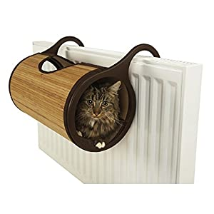 Rosewood Jolly Moggy Natural Bamboo Radiator Cat Bed