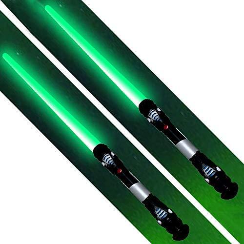L Lichtschwert Laserschwert Licht Sound Vibration 108 cm Schwert Kostüm Verkleidung Kinder Grün ()