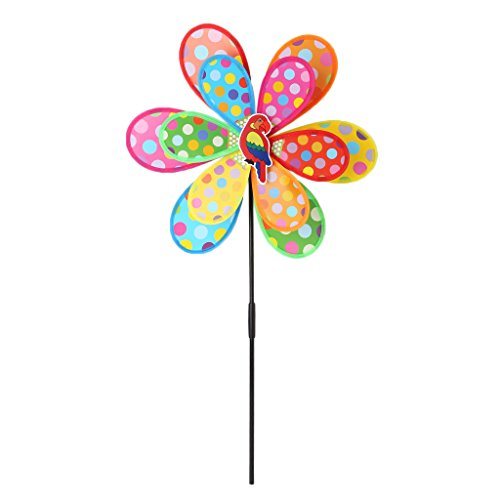 Baiyao Double Layer Windrad für Ihr Yard oder Garden Classical Kinderspielzeug   Garten > Dekoration > Windräder   Baiyao