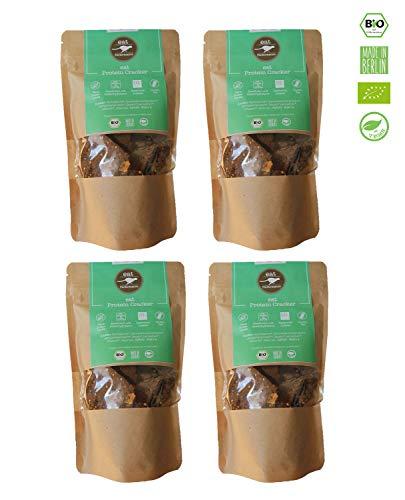 eat Performance® Protein Cracker (4x 100g) - Bio, Paleo, Glutenfrei Aus 100% Natürlichen Zutaten