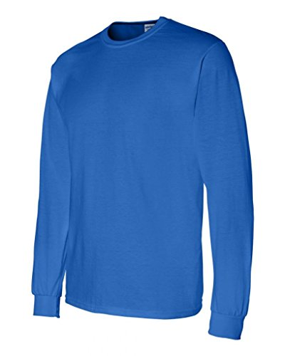 Gildan Unisex-Erwachsene DryblendTM 5,6 Oz, 50/50 (DE) Long Sleeve T-Shirt Blau - Königsblau