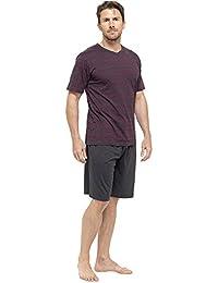 Tom Franks en coton Jersey pour homme Haut à manches courtes rayé avec Short longue tenue